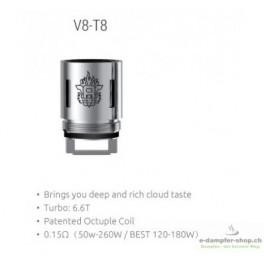 3 x SMOK TFV8 V8-T8 Octuple Coil