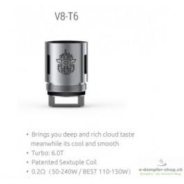 3 x SMOK TFV8 V8-T6 SEXTUPLE COIL